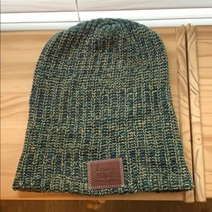 Love Your Melon Speckled Green Beanie